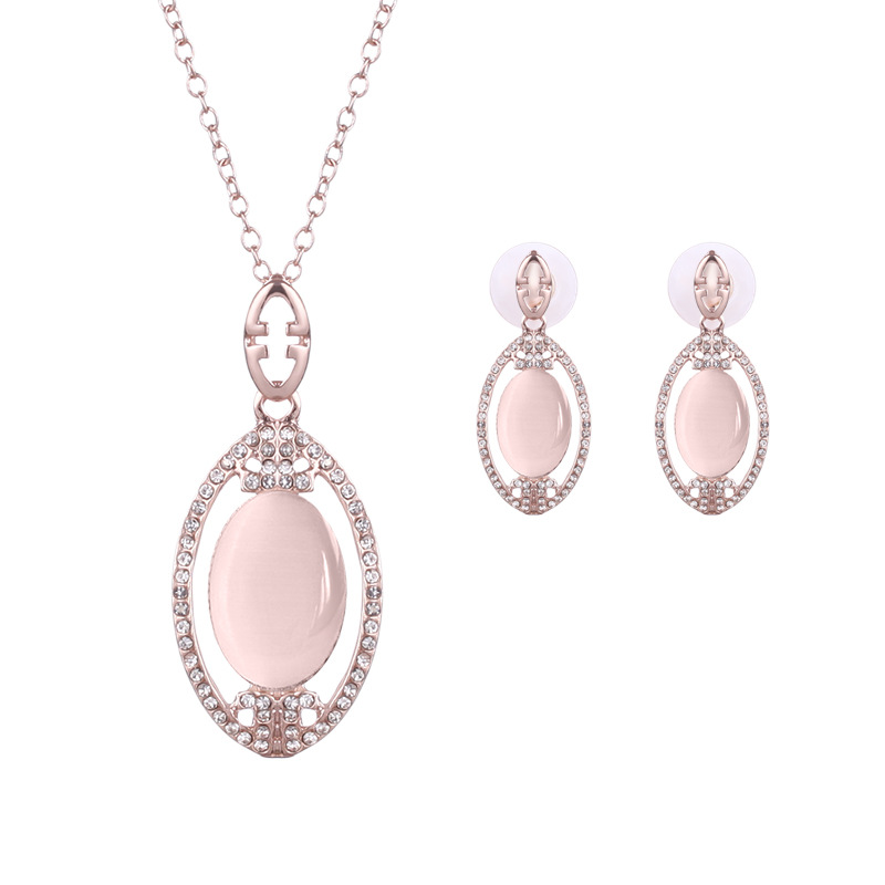 Women/'s Silver Filled Mesh Design Oval Pendant Necklace And Earring Gift Set UK