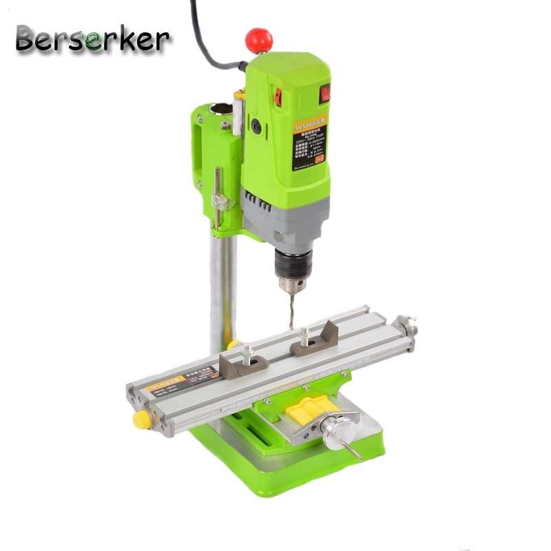 Купить с кэшбэком Berserker Mini Bench Drill Power electric drill for drilling Machine Work Bench  220V 710W 13mm 5156E Free Shipping