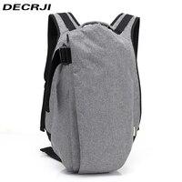 DECRJI Large Capacity 15.6 Inch Laptop Man Bag Backpack Male USB Anti thief Solid School Rucksack Backpack Men Travel Casual
