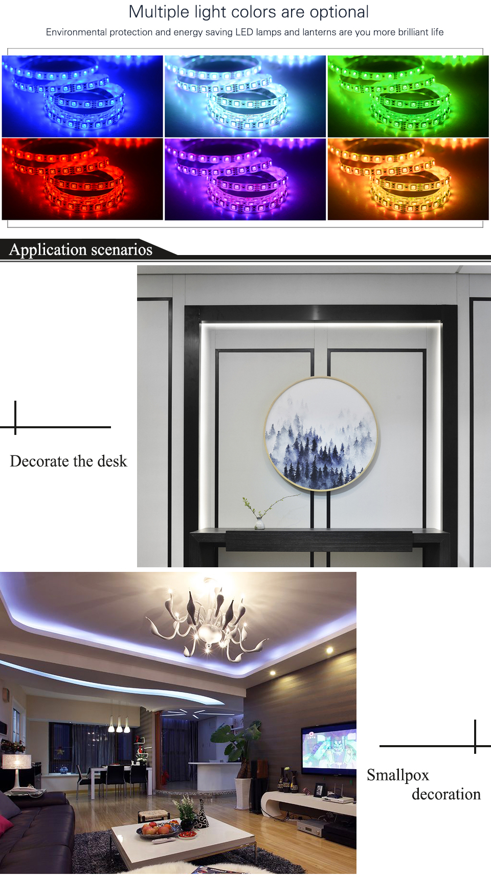 EnwYe 5M 300Leds waterproof RGB Led Strip Light 3528 5050 DC12V 60LedsM Fiexble Light Led Ribbon Tape Home Decoration Lamp_02