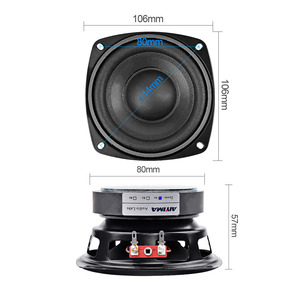 Image 3 - AIYIMA 2Pcs 4 inch 50W Subwoofer Audio Speaker Portable Mini Stereo 4 Ohm 8Ohm Speakers Woofer Full Range Car Horn Loudspeaker