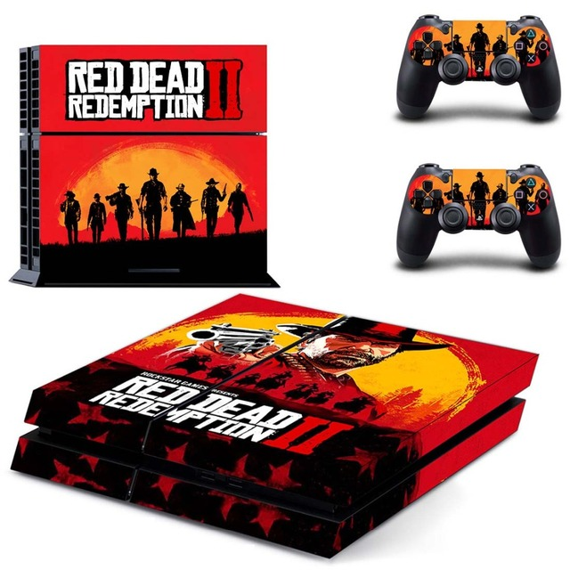 Red Dead:Redemption II PS4 Skin Sticker for Sony PlayStation 4 Console and 2 controller skins
