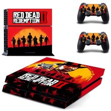 Red Dead:Redemption II PS4 Skin Sticker for Sony PlayStation 4 Console and 2 controller skins(China)