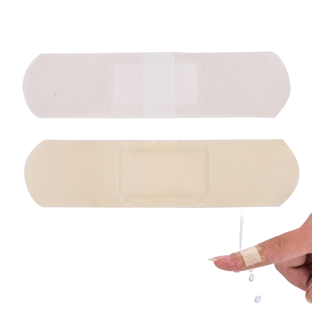 50pcs/Box Hemostatic Medical Disposable Waterproof Band-Aid With A Sterile Gauze Pad For Kids