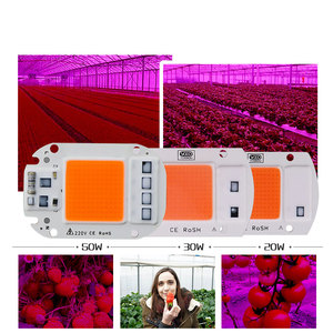Image 3 - 1pcs Hydroponice AC 220V 20w 30w 50w led grow chip full spectrum 380nm 840nm for indoor led grow light