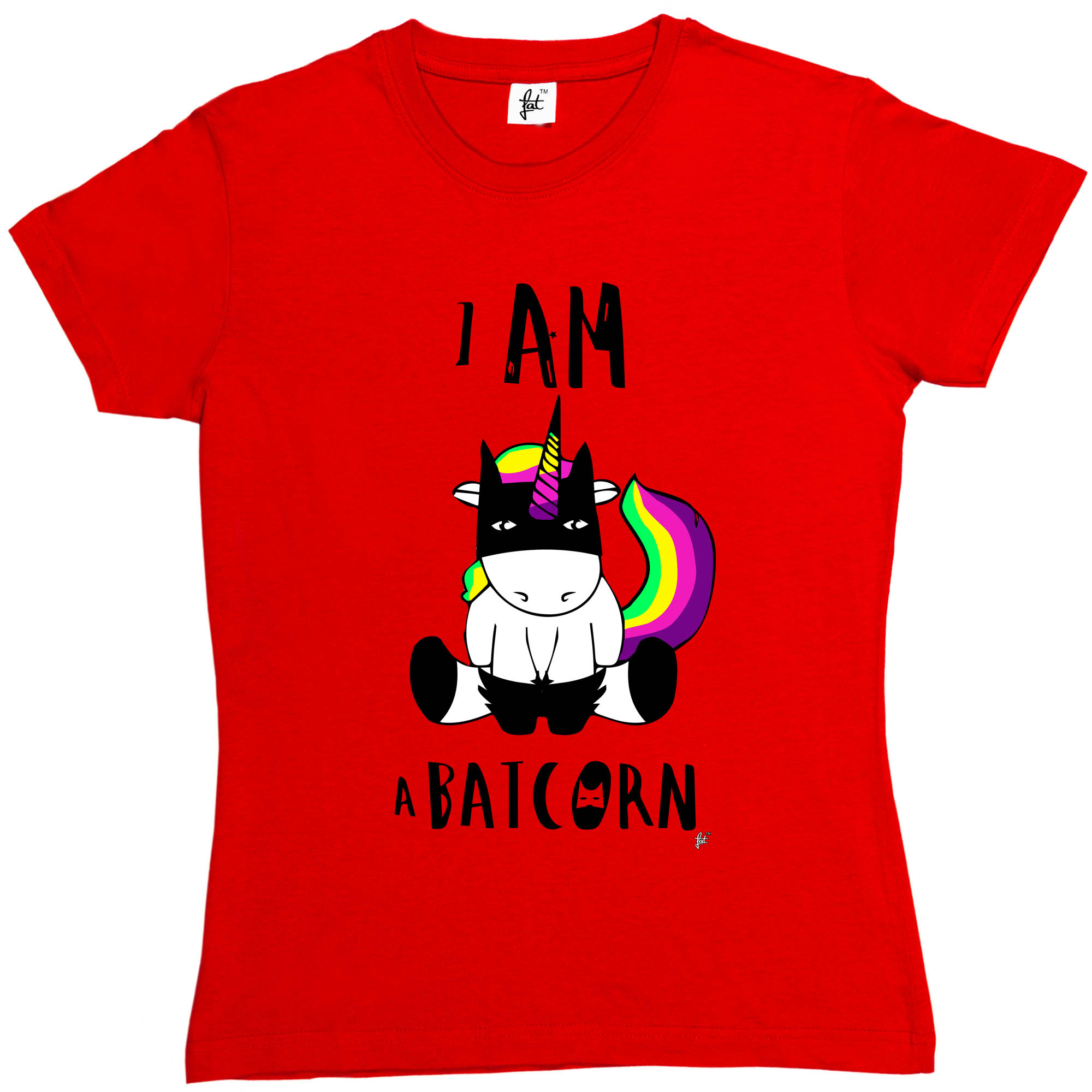 Saya Batcorn Unicorn Memakai Bat Superhero Topeng Womens Wanita T Super Hero Shirt Merek Fashion Harajuku Kawaii Slim Punk Tops Di Dari Pakaian