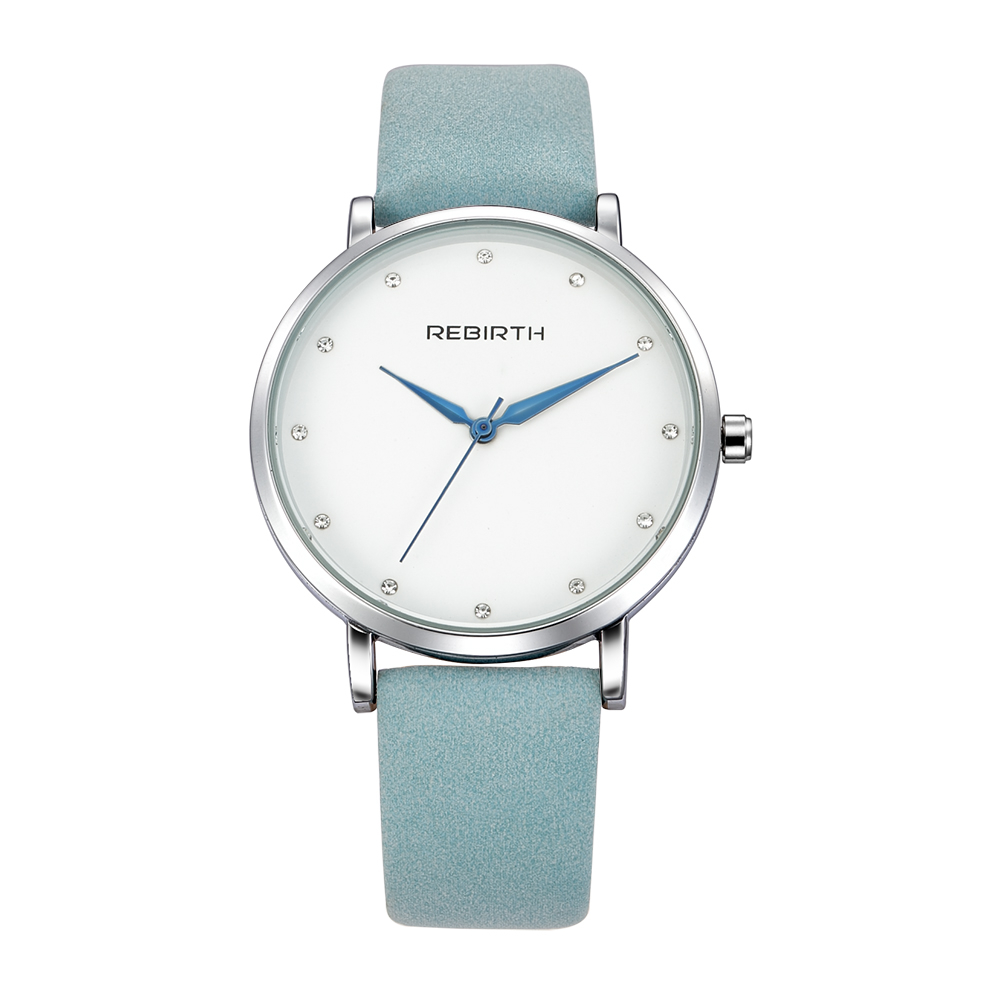 REBIRTH Ladies Wrist Watch Women Brand Famous Female Clock Quartz Watch Hodinky Quartz-watch Montre Femme Relogio Feminino двухкамерный холодильник gorenje nrk 6192 mr