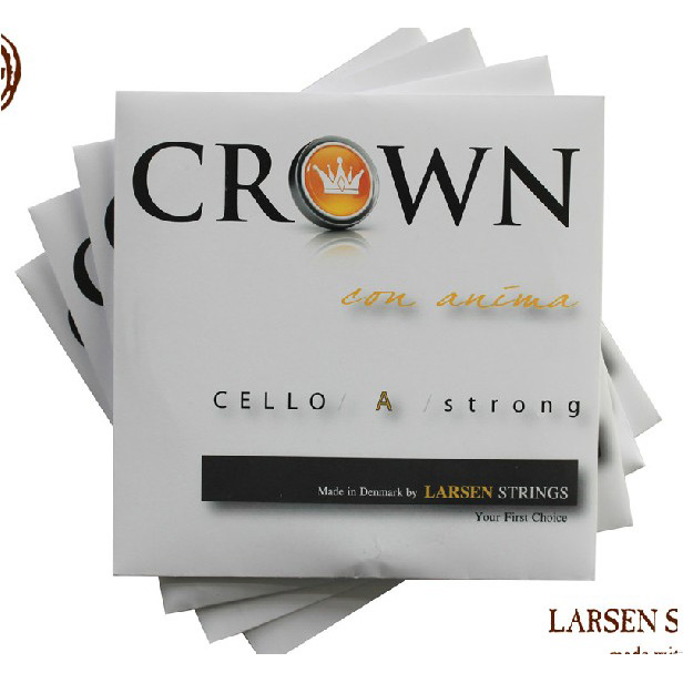 Free Shipping Cello string larsen crown violoncellists string set A D G C - Medium Tension