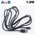 AtoB 1.8M 6 Feet Aluminiu For Lenovo CD-10 micro USB data cable original Round Android double shielded CE FCC RoHS UL ETL