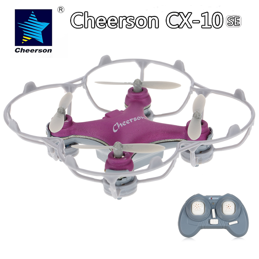Original Pocket Drone Cheerson CX-10SE 2.4G 4CH 6-Axis Gyro Remote Control Mini Drone UFO Toys with LED Lights RTF RC Quadcopter