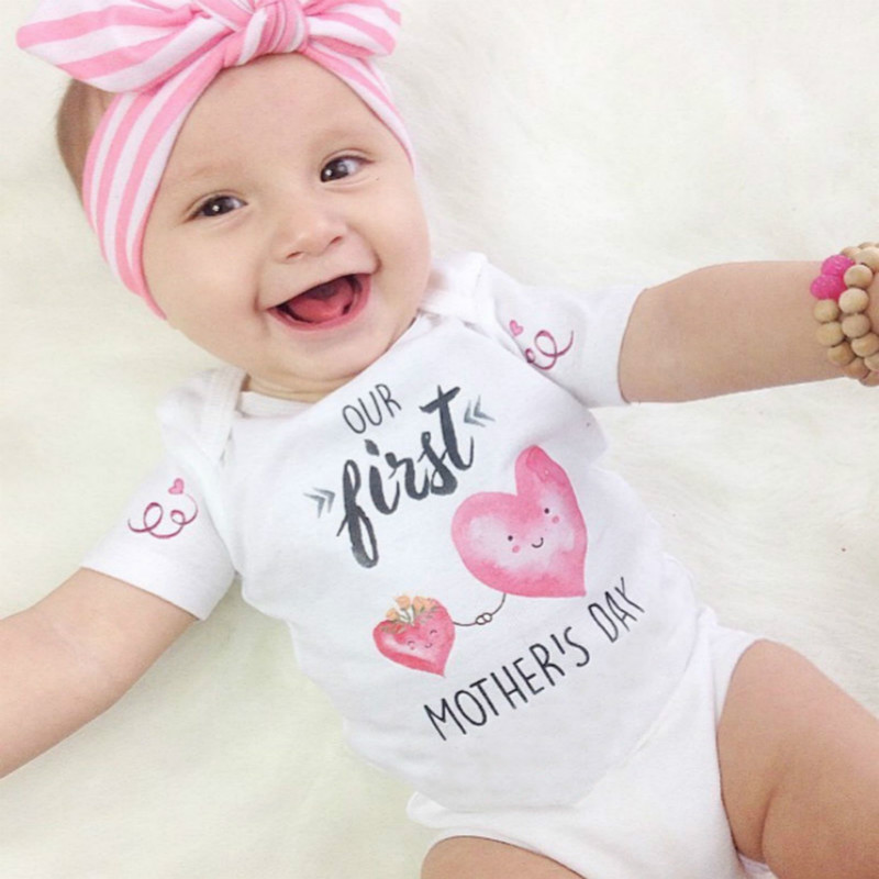 Cotton Newborn Baby Boy Girl Clothes  Romper Jumpsuit Outfits NO Headband
