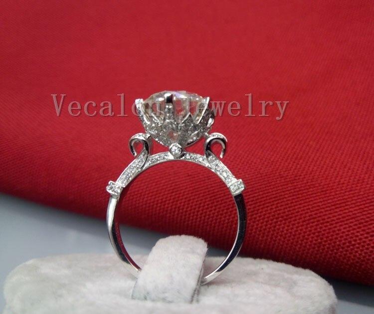 Векалон мода Корона сватбен пръстен - Модни бижута - Снимка 4