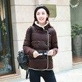 Mulheres Jaqueta de inverno Casacos Quentes Da Moda Gola Fino Casaco Curto Para Baixo Mulheres Parka Mujer Das Mulheres Casacos de Inverno de Algodão Feminino FB6095