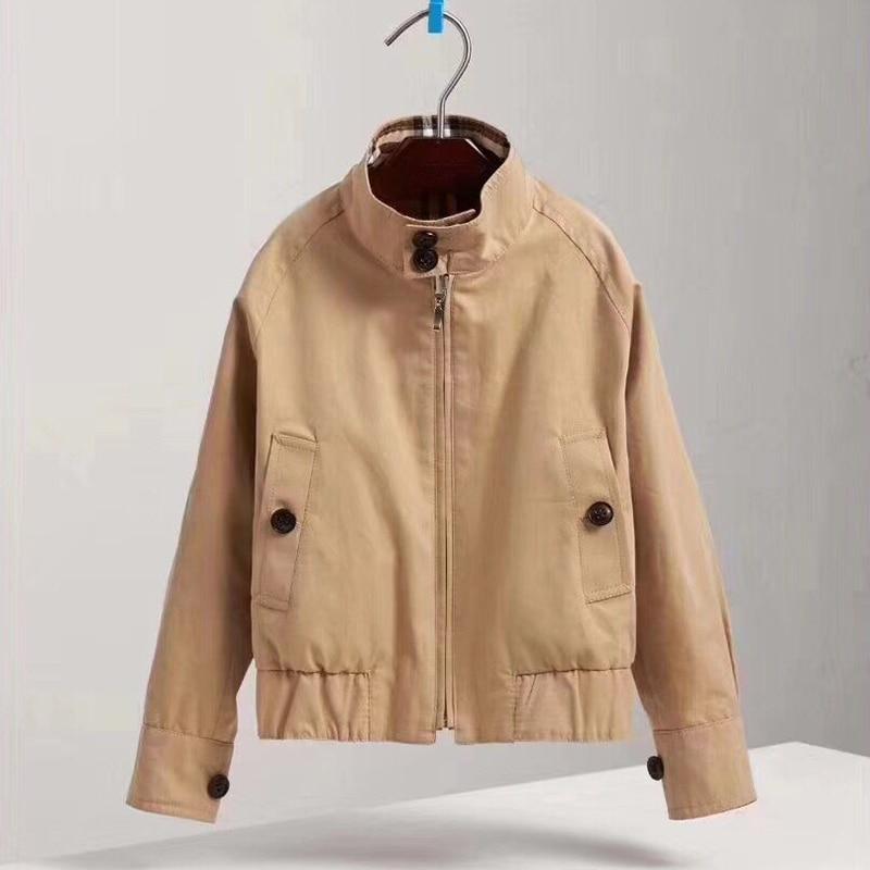 цена на Kids Khaki Jackets Coat Boys windproof Outerwear Children Autumn Fashion Jacket Windbreaker Children's Clothing