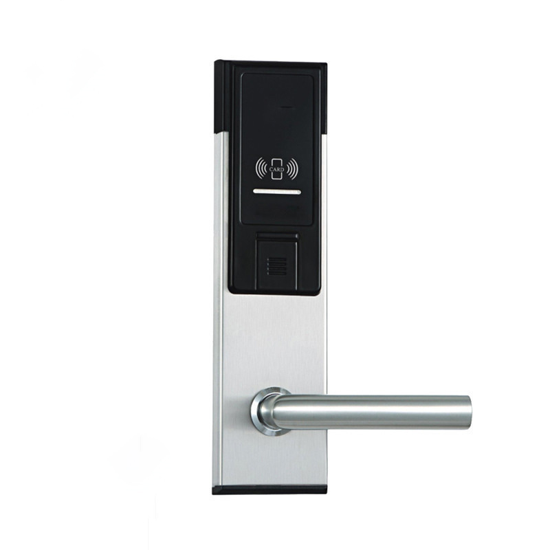 Electronic RFID Card Door Lock with Key Electric Lock For Home Hotel Apartment Office Smart Entry Latch with Deadbolt lkK310BS access control lock metal mute electric lock rfid security door lock em lock with rfid key card reader for apartment hot sale