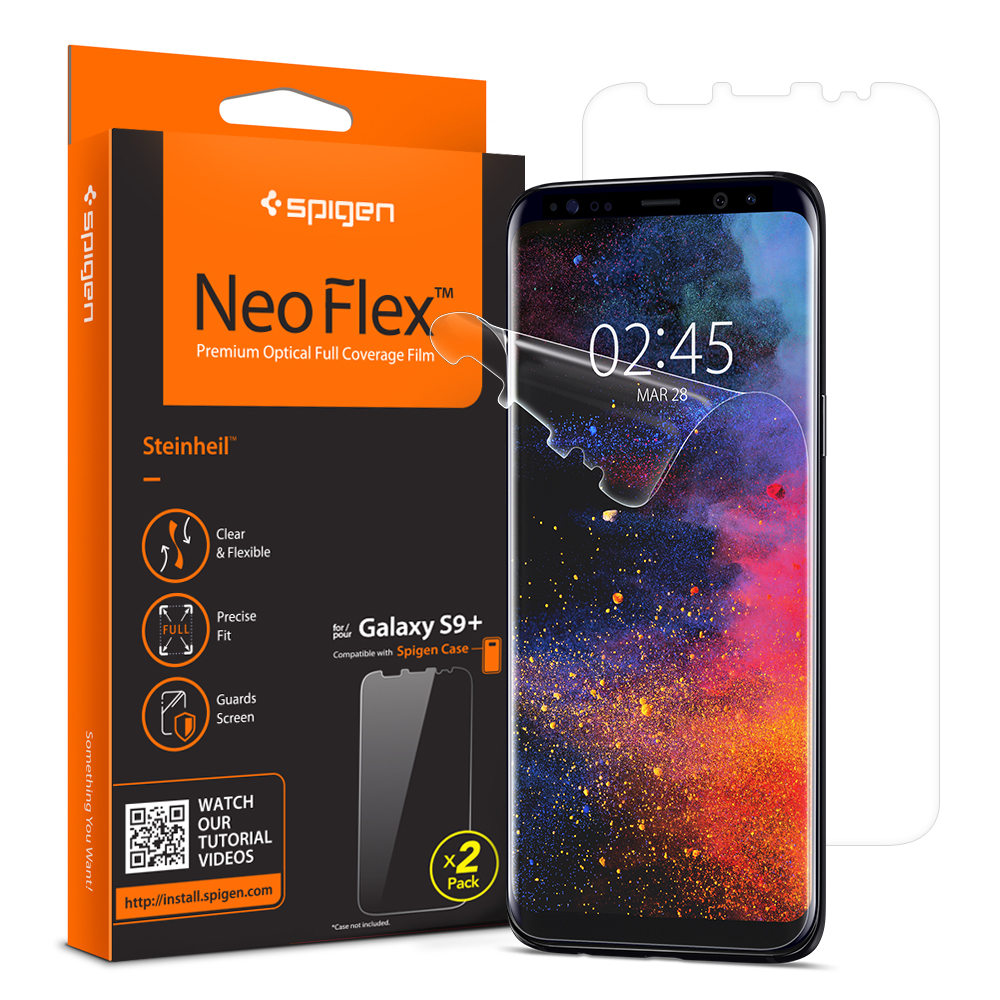 100% Original SPIGEN NeoFlex Screen Protector for Samsung Galaxy S9 Plus (S9+)|Phone  Screen Protectors| - AliExpress