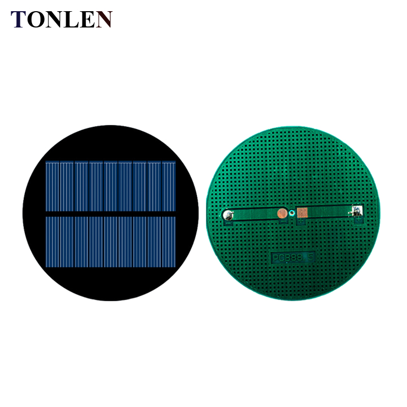 TONLEN 10pcs Epoxy Solar Panel 4.5V 100mA Sunpower Module Solar Kit Polycrystalline Solar Cell 88.5mm DIY Solar Battery Charger