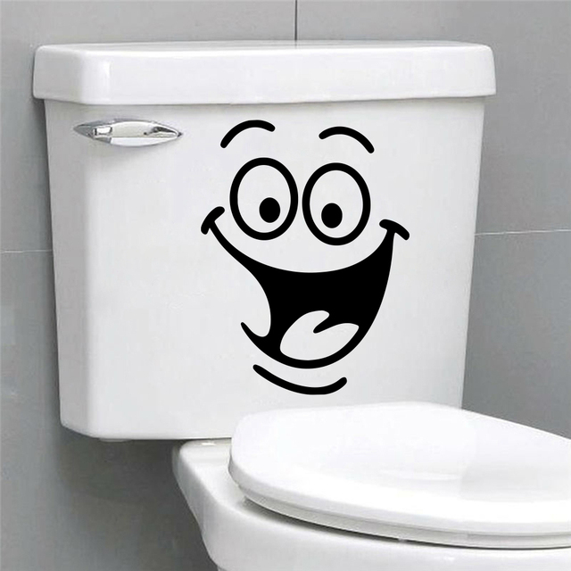 Funny Bathroom Toilet Stickers 2