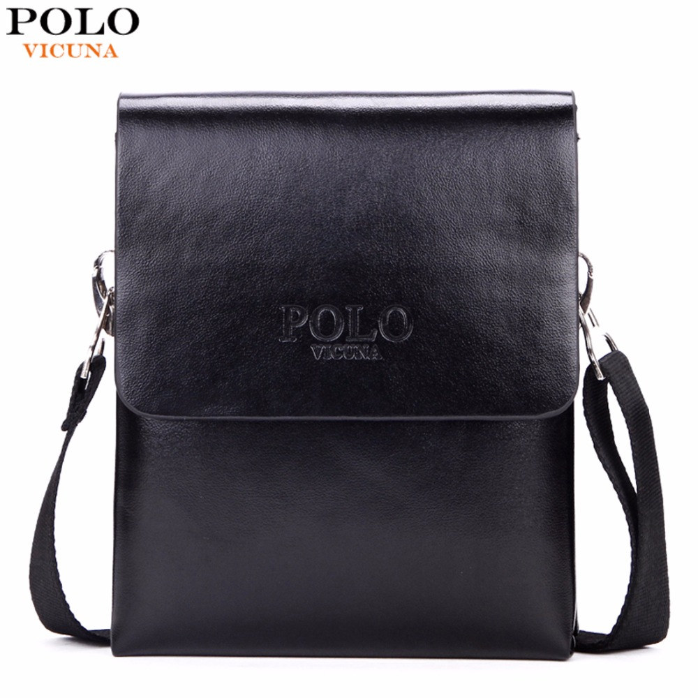 VICUNA POLO Hot Sell Brand Solid Double Pocket Soft Leather Men Messenger Bag Small 2 Layer Mens Travel Bag Mens Bag For Phone new casual business leather mens messenger bag hot sell famous brand design leather men bag vintage fashion mens cross body bag