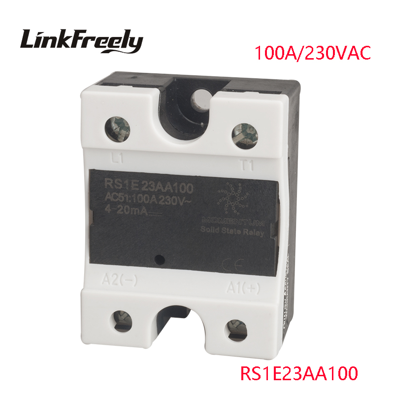 цена на RS1E23AA100 1 Phase AC Solid State Relay 100A 24-280VAC Output Input:4-20mA Motor Soft Starter SSR Relay Board Switch Factory