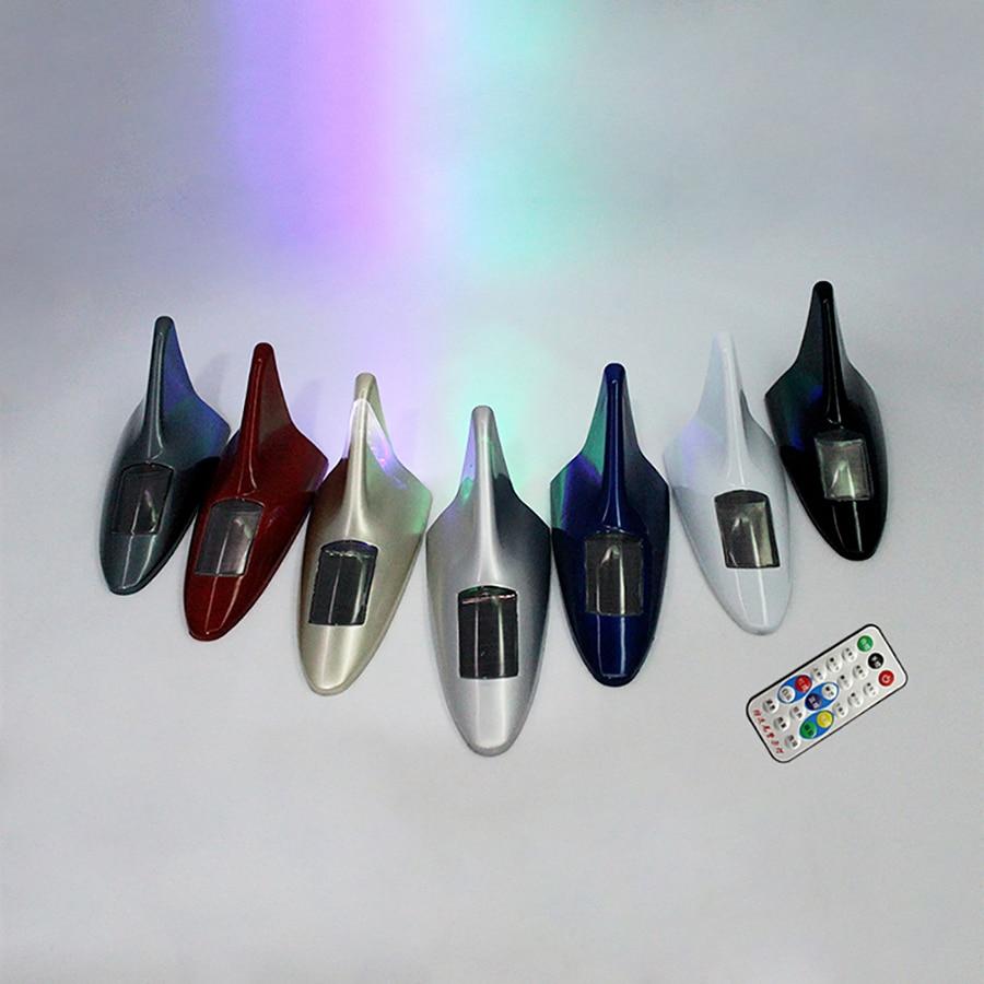 GEETANS 10 led jenis baru Auto Mobil Solar powered LED Flashing Shark - Lampu mobil - Foto 3