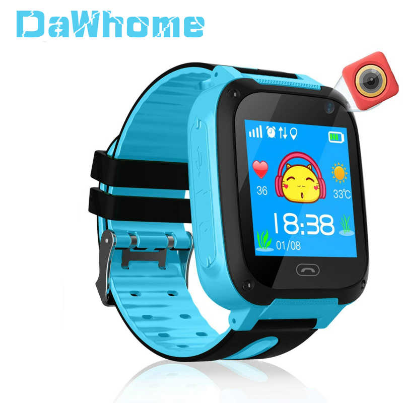 S4 Children Smart Watch GPS Tracker Micro SIM Card Call Child Camera Anti-lost Position Alarm Smart Watch for Baby Girl Boy Gift