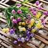 25 Heads Mini Tulips plastic Artificial Flower Bouquet