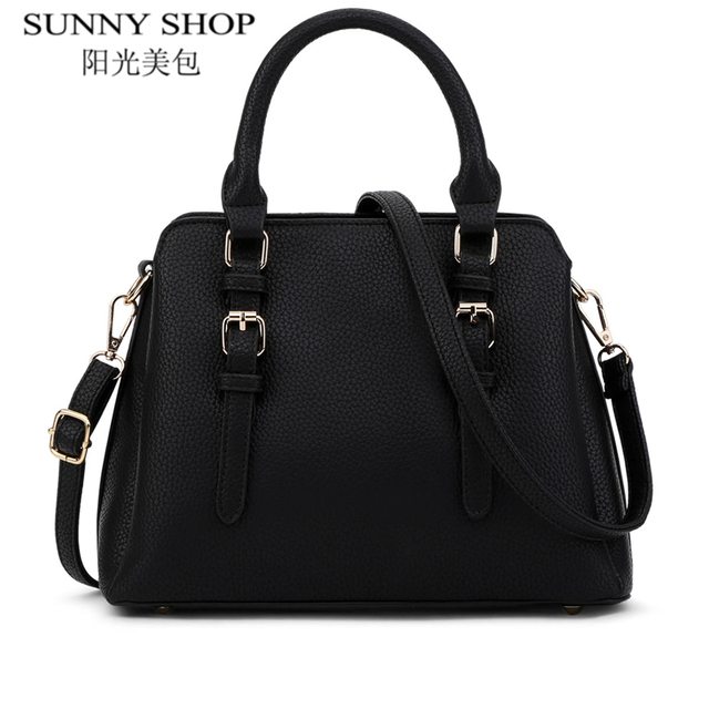 083ec7592c07 SUNNY SHOP Famous Brand Designer Handbags High Quality Women Bag Women  Leather Handbags Fashion Handbag Shoulder Bags 2017 New