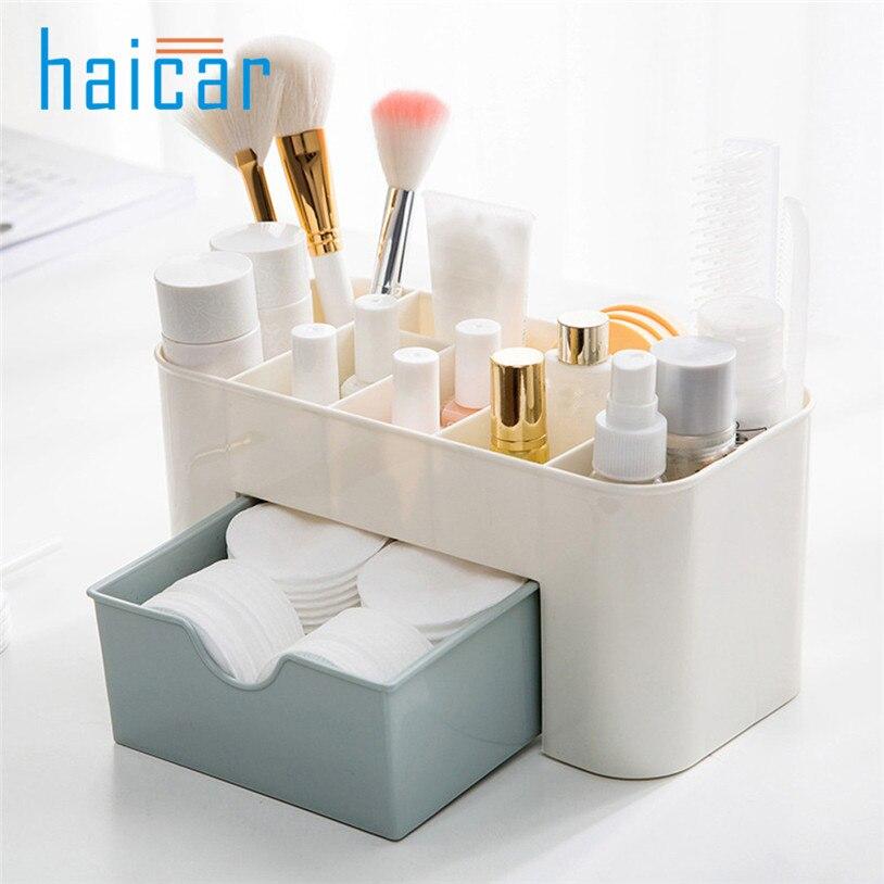 Make Up Cosmetics Storage Box Container Bag Dresser Desktop Office Cosmetic Makeup Organizer makeup organizer box