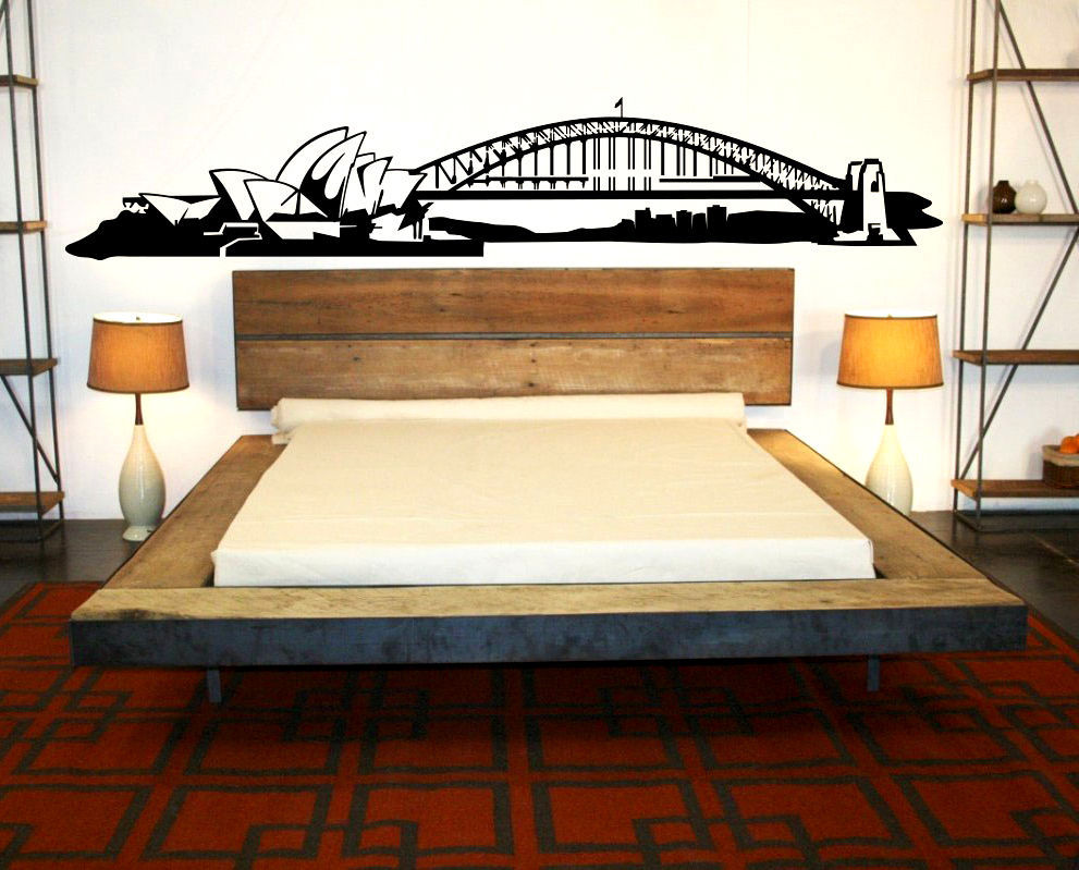 Sydney skyline vinyl wall decal sydney opera house bridge sydney skyline vinyl wall decal sydney opera house bridge australia mural wall sticker bedroom skyline sticker decorative decor in underwear from mother amipublicfo Gallery