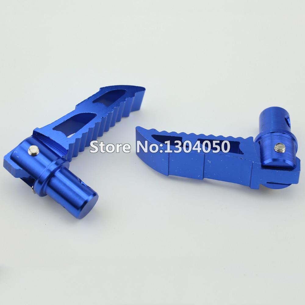 Синий складной подножки cnc для 43CC 47CC 49CC Мини карманный Байк подножки 2-х тактный