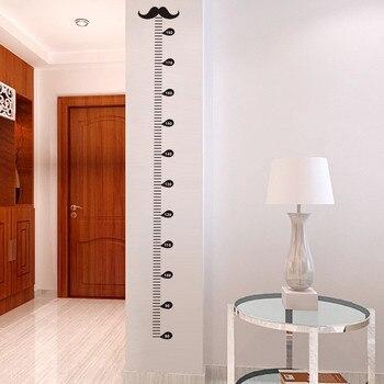 Naklejka na ścianę- miarka wzrostu z motywem wąsów