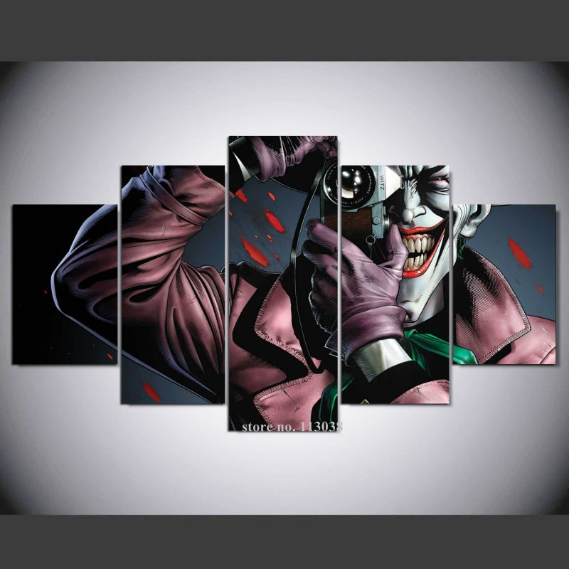 Decorative Wall Pictures Painting Batman The Killing Joke Canvas Art HD Print Living Room Picture