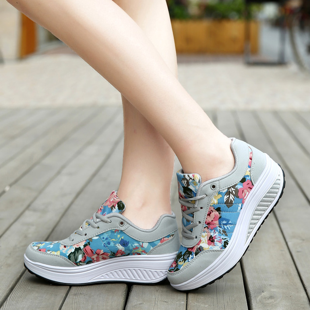 435ae371c8a 2016 Height Increasing Summer Women's Causal Shoes Sport Fashion Walking  Shoes for Women Swing Wedges Breathable