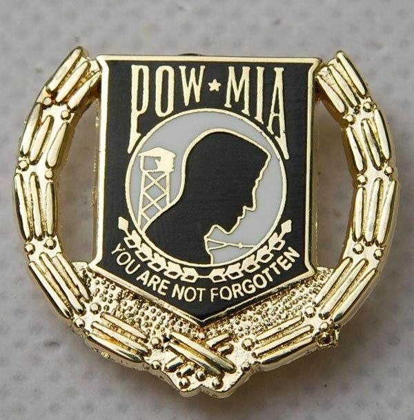 US USA ARMY POW MIA PRISONER OF WAR MILITARY HAT LAPEL PIN -32205