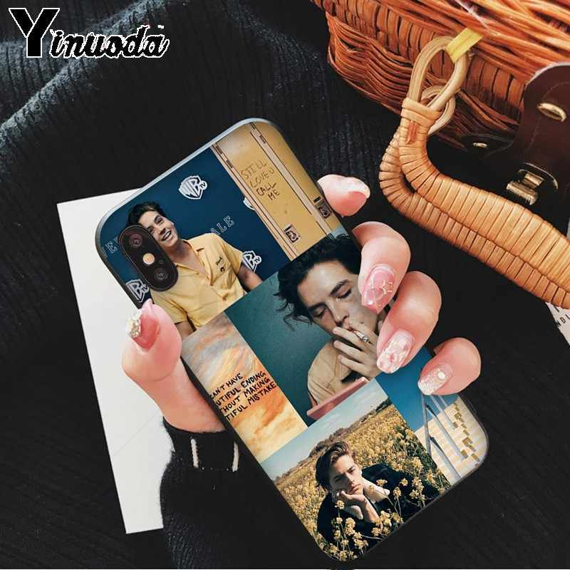 Yinuoda American TV Riverdale Jughead Jones Soft Rubber black Phone Case for iPhone X XS MAX 6 6S 7 7plus 8 8Plus 5 5S XR