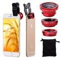Alta Qualidade Clipe Olho de Peixe Grande Angular Macro Fisheye Lens Mobile Phone lentes de câmera universal 3 em 1 para iphone 6 5c samsung htc