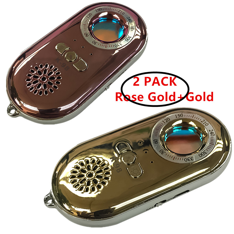 2 Pack Anti Candid Device Cams Finder +Anti-theft Alarm Button once Vibrating(Gold+Rose Gold)20192 Pack Anti Candid Device Cams Finder +Anti-theft Alarm Button once Vibrating(Gold+Rose Gold)2019