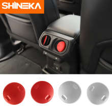 SHINEKA Interior Mouldings For Jeep Wrangler JL 2018 Armrest Box Air Vent Decoration Stickers ABS Car Styling for wrangler