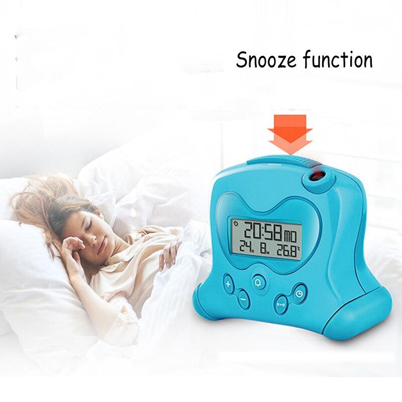 USB température réveil calendriers étudiant chevet Silence mignon Projection électronique numérique réveil enfant cadeau