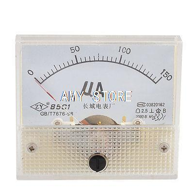85C1 Beige Mounting Head Plastic DC 0-150UA Micro Ampere Meter Panel85C1 Beige Mounting Head Plastic DC 0-150UA Micro Ampere Meter Panel