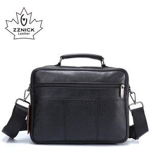 Image 4 - ZZNICK メンズメッセンジャーバッグ高級本革男性バッグデザイナー高品質ショルダーバッグカジュアルジッパー事務所バッグ男性