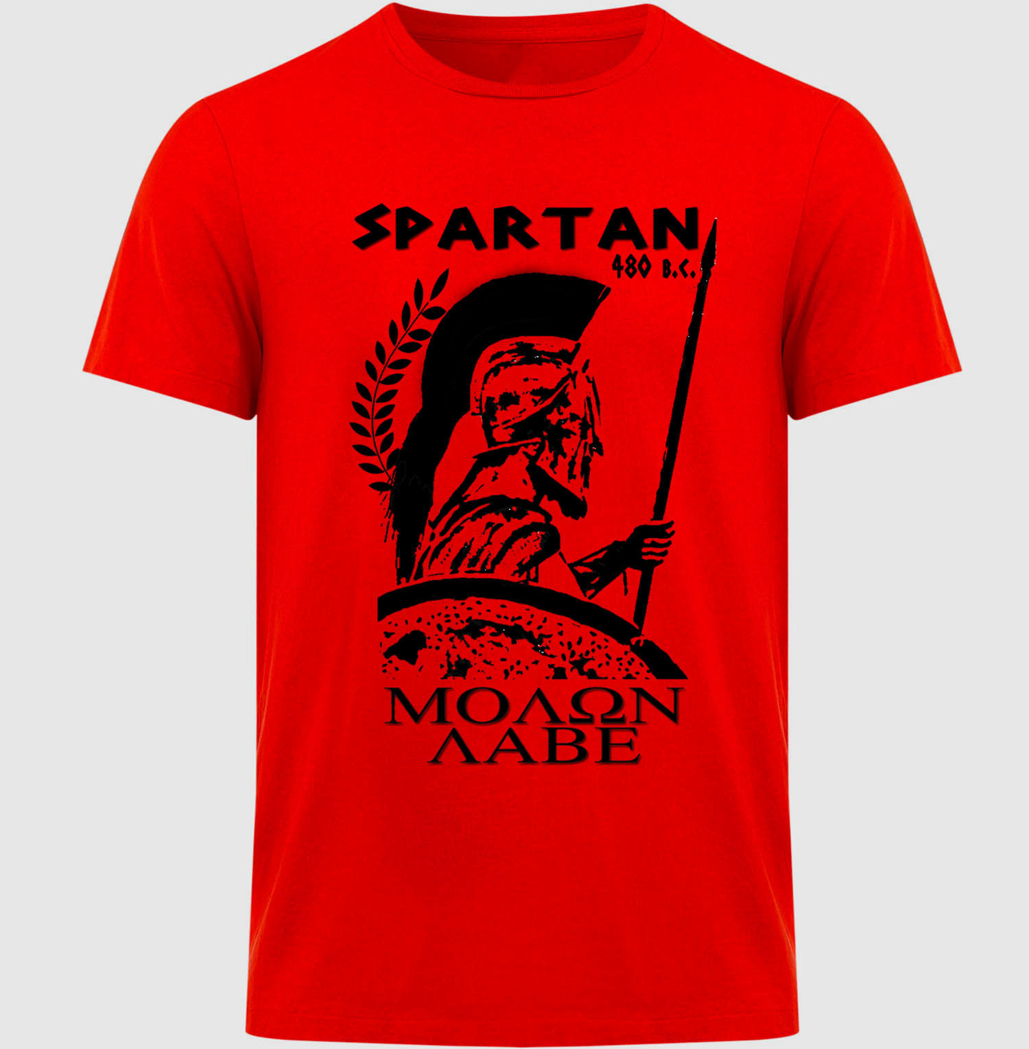2018 Summer Hot Sale Men T-shirt SPARTAN WARRIOR - NEW COTTON RED TSHIRT