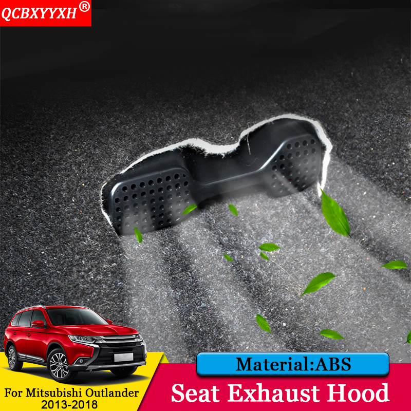 QCBXYYXH Car styling ABS Car Seat Exhaust Hood font b Interior b font Decoration Stickers Auto