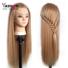 Professional 65cm hairdressing dolls head Female Mannequin Hairdressing Styling Training Head Nice high quality Mannequin Head