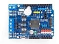 Controlador de Velocidade PWM Dual-Alta Potência L298P H-Motorista de ponte, Interface Bluetooth, Placa do Módulo Do Motor Escudo L298P