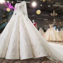 Aijingyuセクシーなウェディングドレス2021ショートフロントプラスサイズブライダルコートオンラインショップで購入トルコウェディングドレス