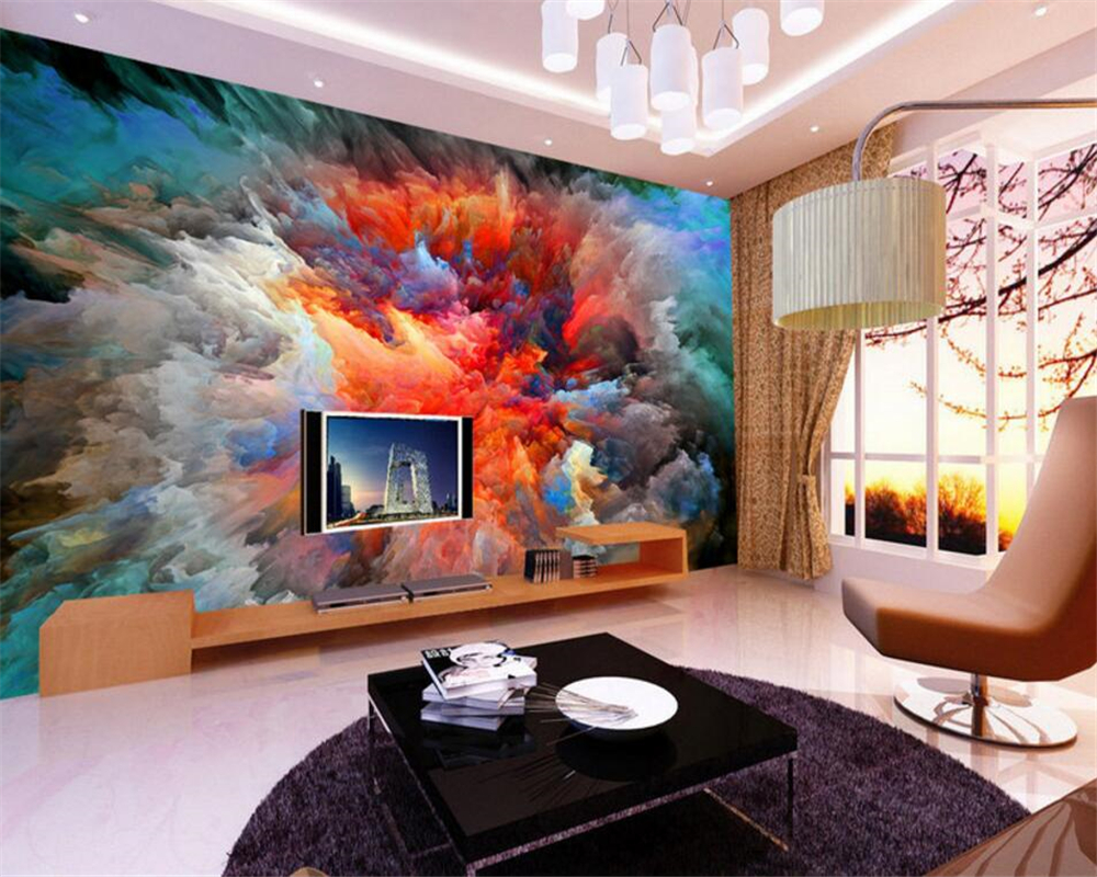 Beibehang Large Photo Wallpaper Dream Star Watercolor Oil Painting Modern  Family 3D Living Room Bedroom Background 3d Wallpaper In Wallpapers From  Home ...