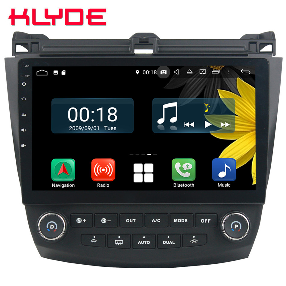 10.1 IPS Octa Core 4g Android 8.1 4 gb RAM 64 gb ROM RDS Lecteur DVD de Voiture Stéréo radio GPS Glonass Pour Honda Accord 7th 2003-2007