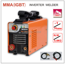 ZX7 MMA 180 IGBT small household welding machine single phase AC220V ,protable inverter welder mma arc zx7 stick welder